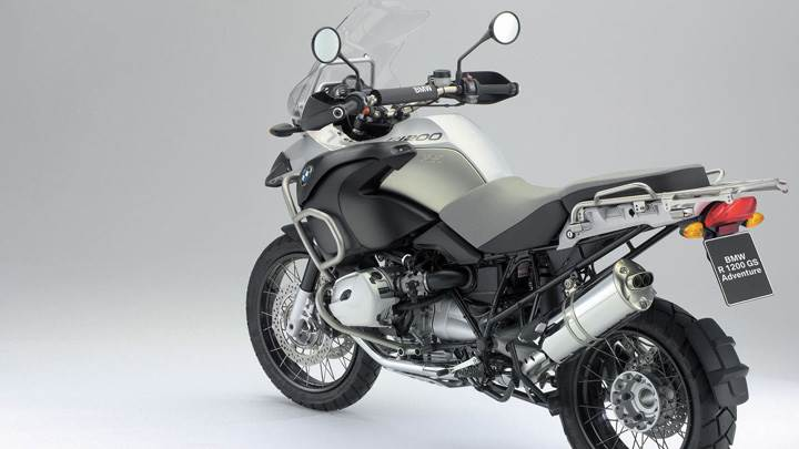 BMW R1200 GS In Silver Side Back Pose